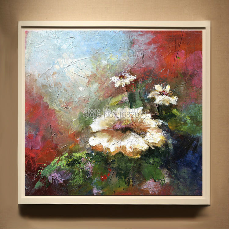 Superb Artist Handmade High Quality Abstract Flower Paintings On Canvas Hand-painted Flower Oil Painting For Living Room
