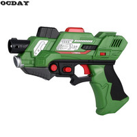 2Pcs Kids Digital Electric Laser Tag Toy Guns With Flash Light Sounds Effect Live CS Battle