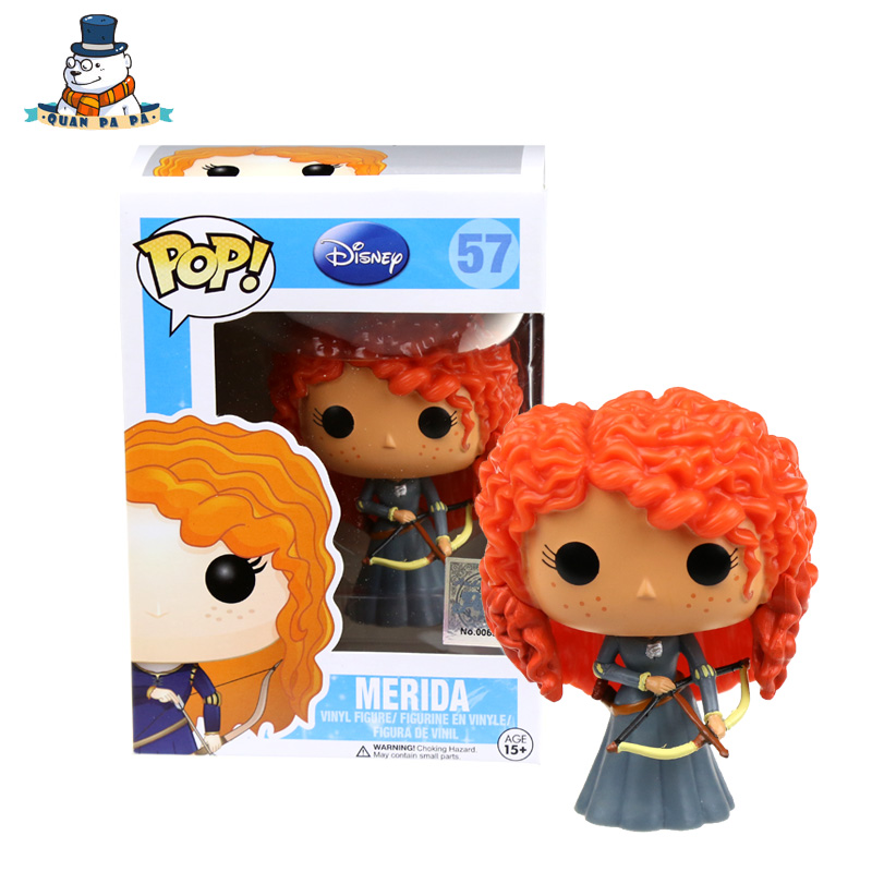 [QuanPaPa] New Genuine FunKo POP MERIDA 57 Model Action Figurine doll car Decoration kids toys
