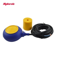 цена Hot Sale China Cable Water Tank Level Float Switch MK-CFS03 4 Meter AC 250V Float Switch Cable Fluid Level Controller