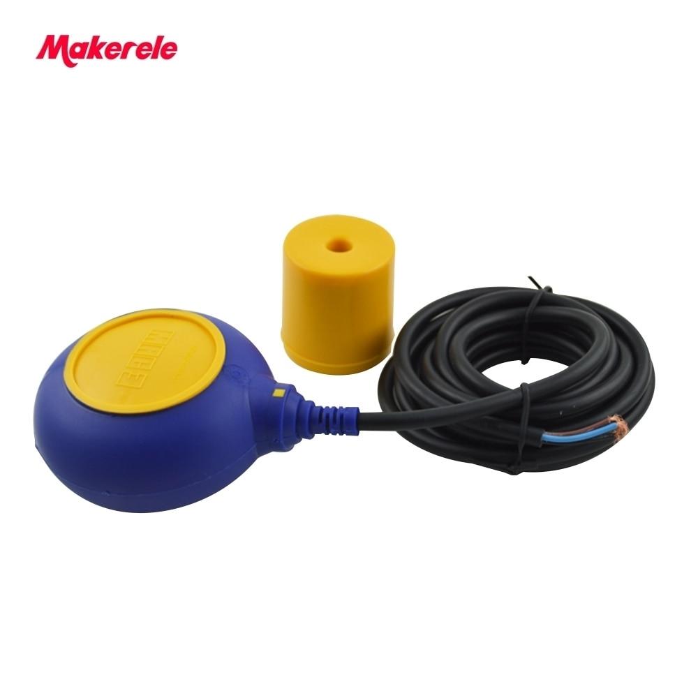 Offre spéciale chine câble réservoir d'eau niveau flotteur interrupteur MK-CFS03 4 mètres AC 250 V flotteur interrupteur câble fluide niveau contrôleur