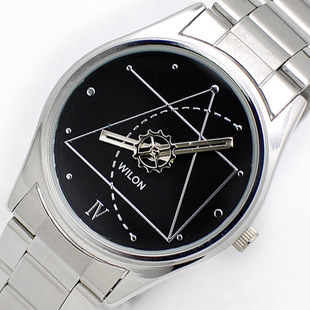 CHINO WILON 2318G Couple Watches For Lovers The Da Vinci Code Analog Quartz Watch Stainless Steel Band Dress Watch Free Shipping