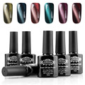 6pcs Cat Eyes Gel Nail Polish UV Soak Off Led Gel Lacquer Varnish Brand Long Lasting Gel DIY Nail Art Salon