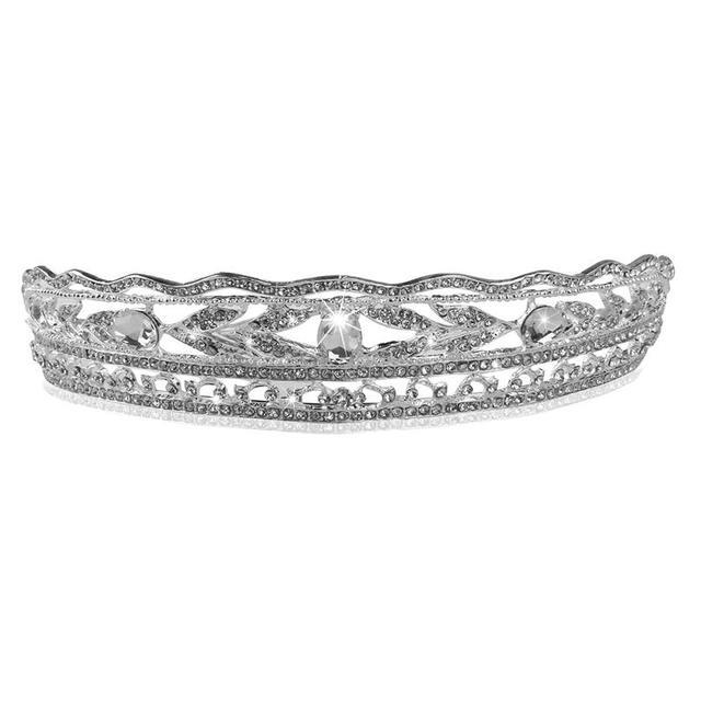 Fashion Rhinestones Princess Crown Headband Diamond Hair Wedding Tiara Bride Prom Headpiece