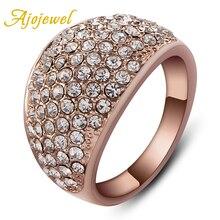 Ajojewel Luxury Full Rhinestone Female Ring New Arrival Women's Finger Rings Jewelry