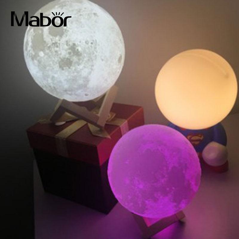 3D LED Moon Night Light Moonlight Colorful Desktop Lamp Gradient Decoration 3d moonlight fashion led decorative lamp night light romantic birthday present moon night light