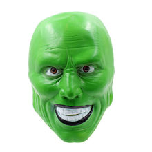 The Mask Movie Jim Carrey Cosplay Green Loki Mask Costume Fancy Halloween Party Masquerade Cosplay Theme Mask