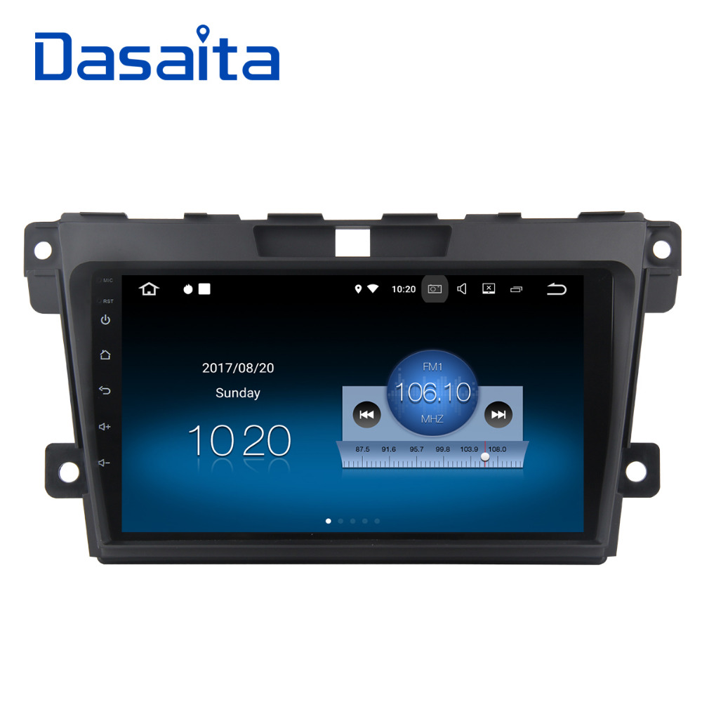 Dasaita Car DVD Player for Mazda CX7 CX 7 CX-7 Multimedia Android 7.1 with 9 Touch Screen Support GPS Radio Stereo RDS 1080P yessun for mazda cx 5 2017 2018 android car navigation gps hd touch screen audio video radio stereo multimedia player no cd dvd