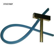 Finetrip 30w 60w 40w ferro de solda t ponta t-cabeça, cobre t-dicas + cabo de borracha imprensa quente para o reparo do cabo flexível do pixel da tela lcd