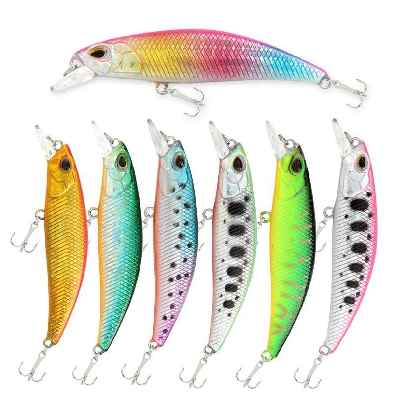 1 pièces 6.5 cm 5g leurres de pêche évier vairon leurre de pêche artificiel dur appât manivelle Wobbler poisson en plastique Y268
