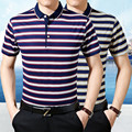 High quality leisure summer short sleeve fashion striped mens polo shirts