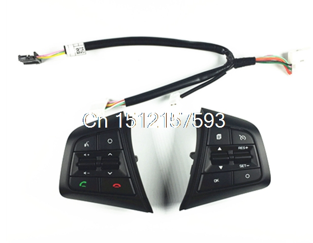 ФОТО High Quality For Hyundai ix25 2.0L steering wheel control buttons supervision panel button without clock spring Creta