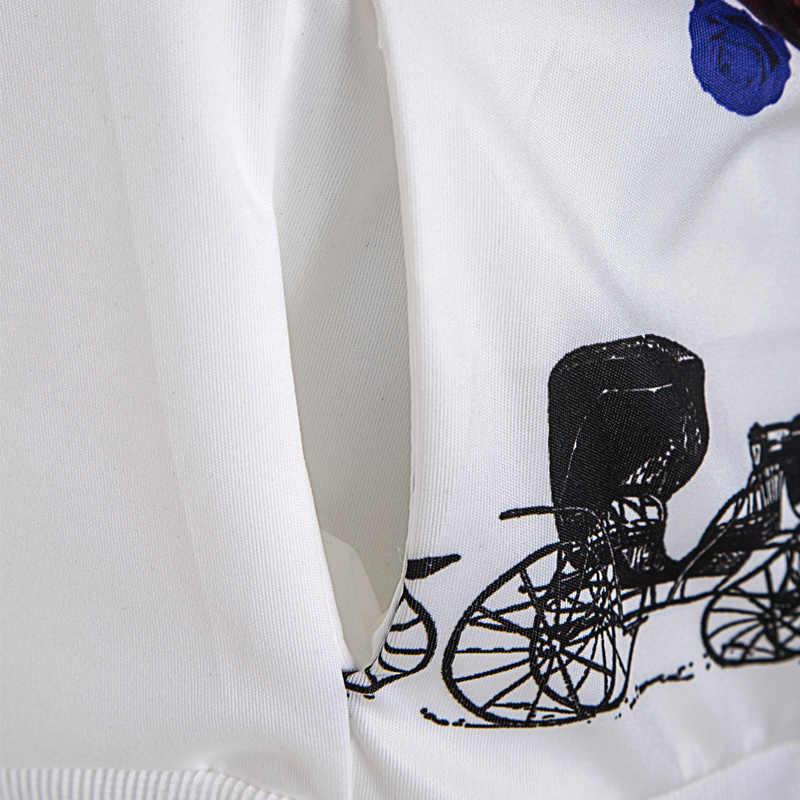 2 Juego de dos piezas estampado mariposa flor chándal pista chaqueta Joggers a juego Pantalones mujer ropa pista trajes invierno conjunto