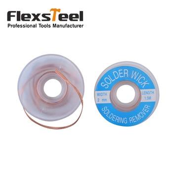 Flexsteel Good Quaity 1PC Welding Wire Tin Desoldering Wire Solder Wick Soldering Remover 2mm Width 5feet/1.5M Length цена 2017