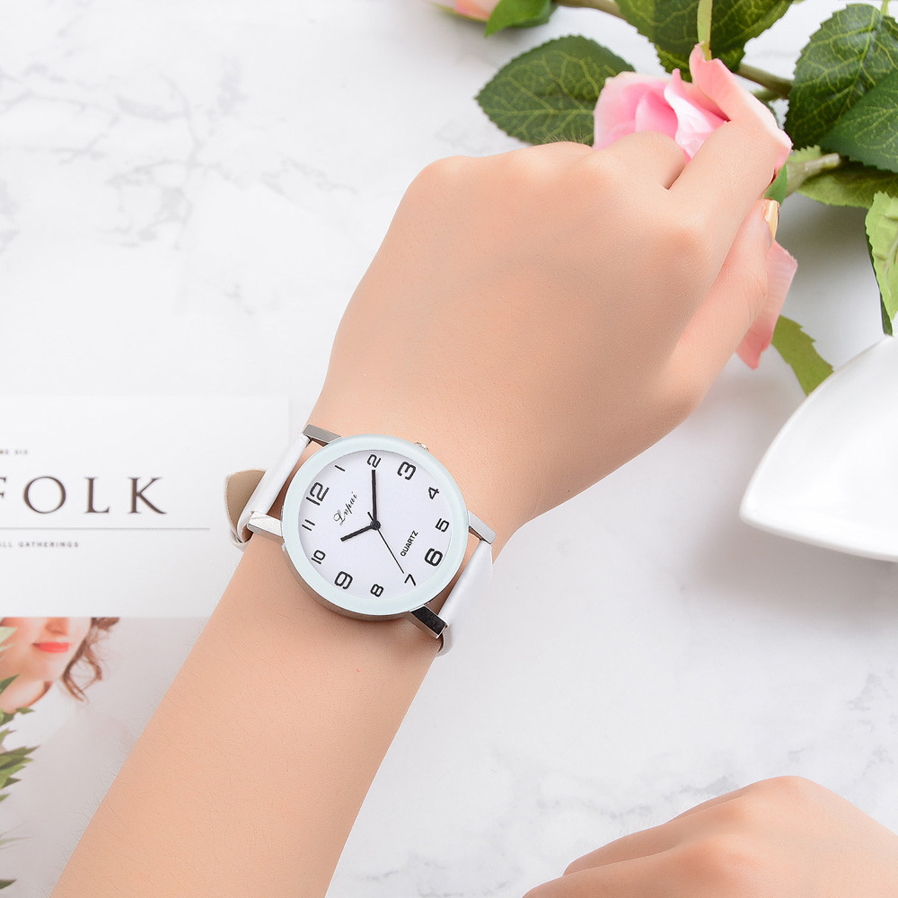 Women's Casual Leather-Band Watches