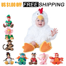 777f8a625 2018 new Baby Rompers Winter Animal Pirate Dinosaur Penguin Santa Claus Deer  Toddler Christmas Carnival Halloween Elf Costume