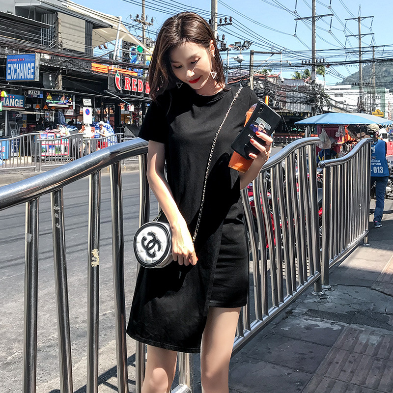 Popular Spring 2019 Long Pleated dress Summer Casual Women High Waist Elascity on promote