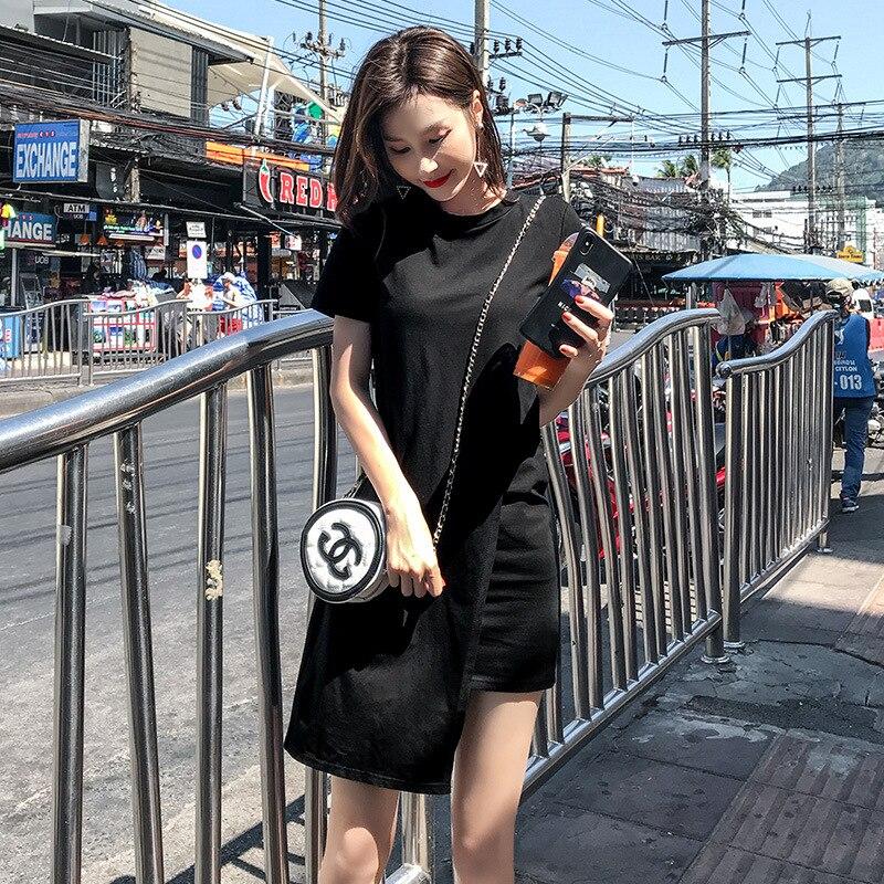 Populaire Printemps 2019 Longue Plissée robe D'été décontracté Femmes Taille Haute Elascity sur la promotion