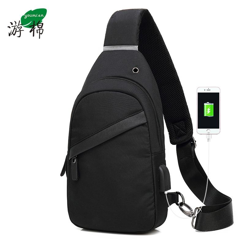 2019 Fashion Chest Bag,Mens Chest Bag Multi-Function Casual Messenger Bag Waist Bag Student Backpack