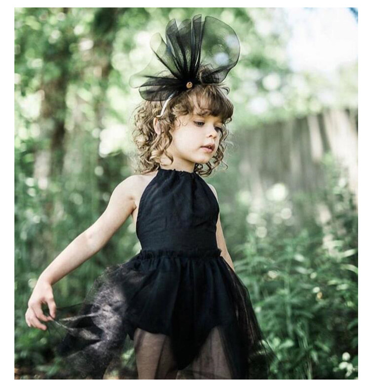 Baby Rompers Summer Black Lace Baby Girls Clothing Infant Strap Backless Roupas Bebe Clothes sleeveless Jumpsuit Romper