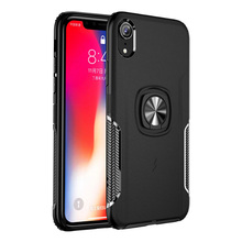 Shockproof Armor Case For iPhone 6 6S 7 8 Plus XS Case For iPhone X XS Xs Max XR Finger Ring Holder Phone Cover kisscase shockproof armor cases for iphone 6 6s 7 8 plus xs case for iphone x 5 5s se xs xs max xr finger ring holder case funda