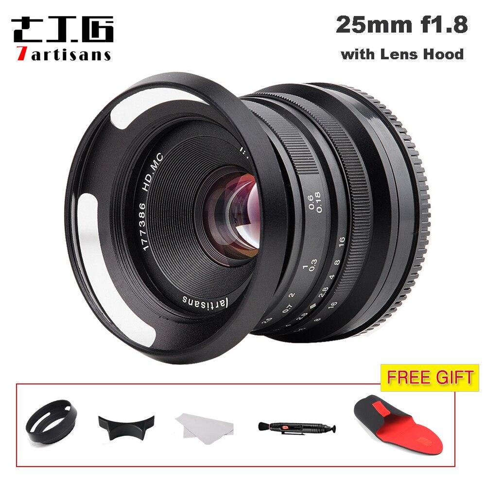 7 artisans 25mm/F1.8 Premier Objectif à Tous Unique Série pour E Montage/pour Micro 4/3 Caméras a7 A7II A7R A7RII X-A1 X-A2 G1 G2 G3