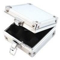 Free Shipping Small Aluminum Silver Tattoo Rotary Gun Machine Grip Tube Tip Box Case Kit Supply