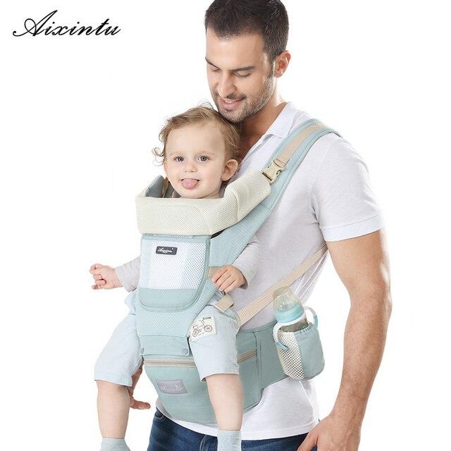 Эргономичный рюкзак кенгуру для новорожденных, Хипсит, слинг спереди, для путешествий, для детей от 0 до 36 месяцев
