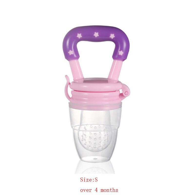 Силиконовый детский успокоитель младенцев Соска-пустышка детские соски Фидер для еда, фрукты пустышки для младенцев для кормления с соской - Цвет: Pink S