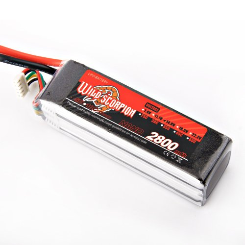 100% Brand New Wild Scorpion RC 14.8V 2800mah 30c Li-polymer Lipo Battery for trex 450 Helicopter+free shipping  цена и фото