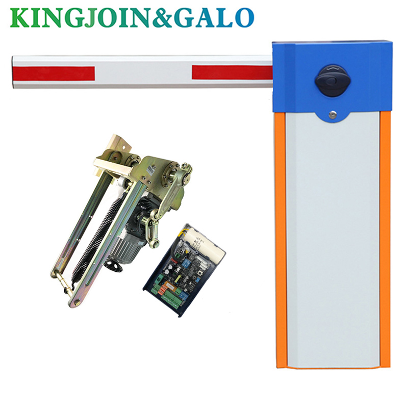 Automatic Electric Boom Barrier Gate Car Parking Barrier 2 Remote Control With 3s Opening Time 4.5m Telescopic Arm