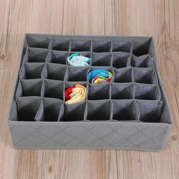 30 Cell Foldable Drawer Organizer Underwear Bra Scarfs Socks Organizer Bamboo Box Bamboo Charcoal Clothes Storage Box