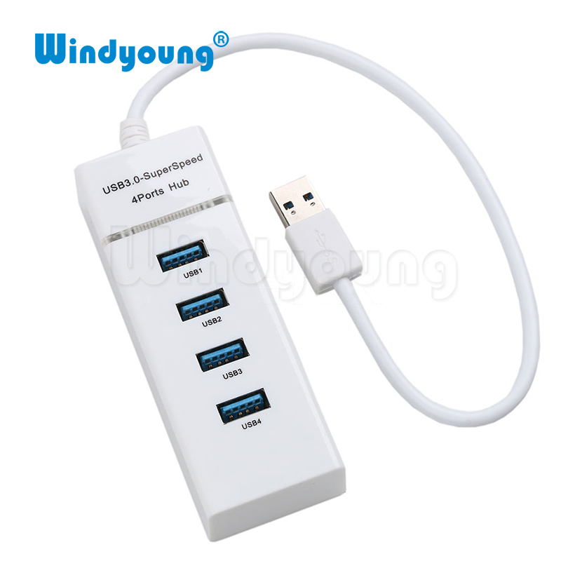 Mini USB HUB 3.0 5Gbps 4 PortMicro USB 3.0 HUB USB Splitter Adapter Super Speed High Quality Computer Peripherals White/Black