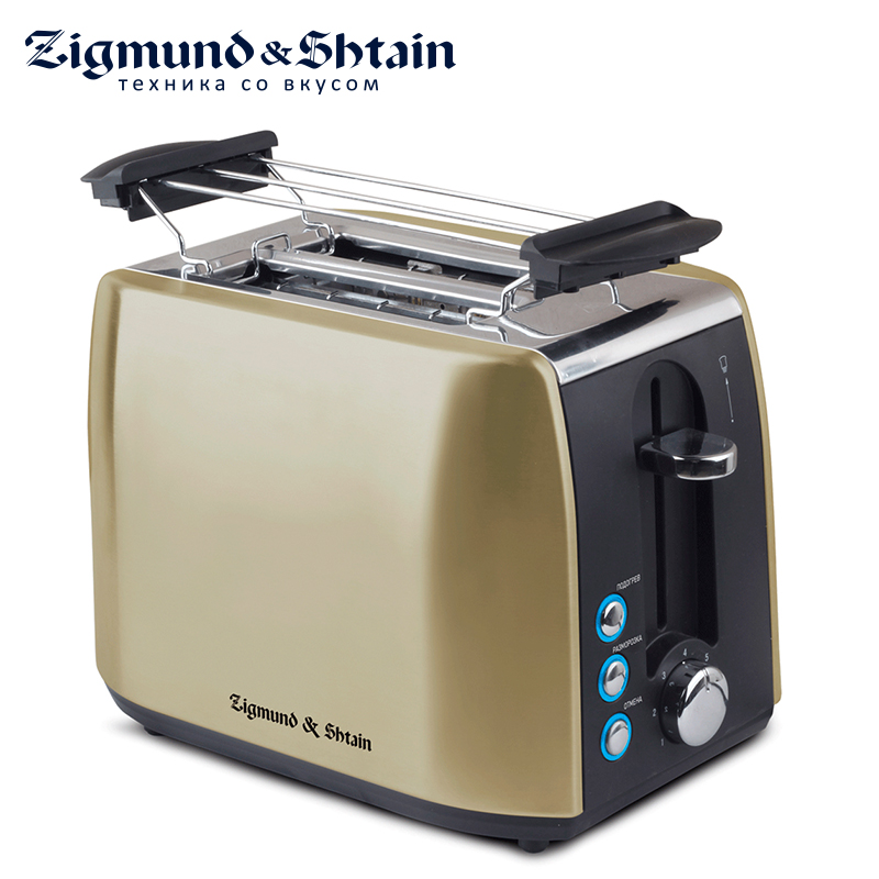 Фото Zigmund & Shtain ST-86 Toaster Household Automatic Bread Toaster Baking Breakfast Machine Stainless steel 2 Slices Bread Maker
