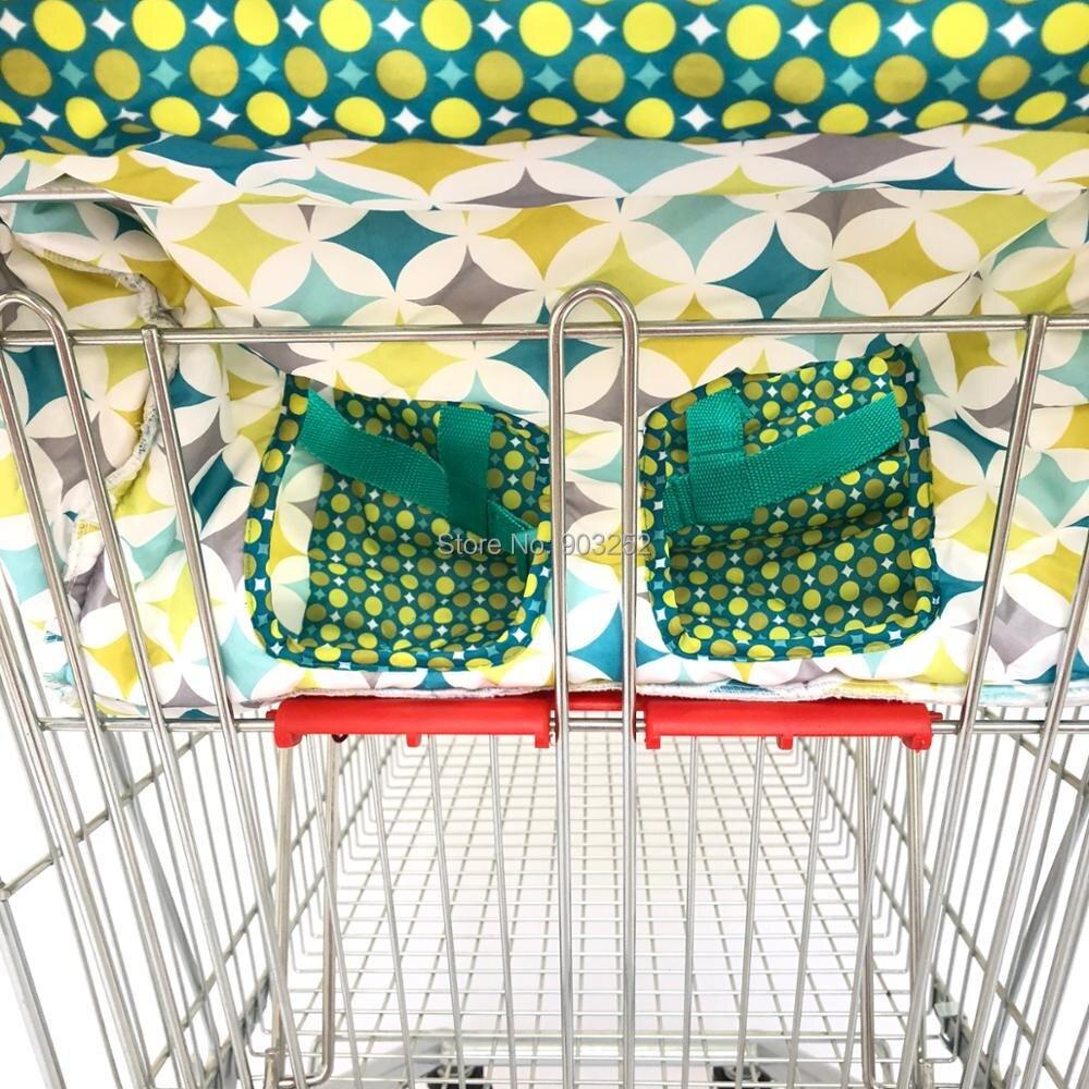 Зеленый корзина чехол для детского сидения, Ресторан высокий стул-мягкие вставки Держатель для мальчиков, девочек, младенцев, малышей