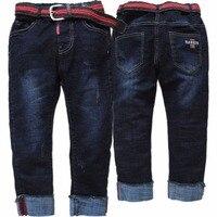 4091 jeans junge winter warme denim und fleece jungen jeans hosen kind hosen kinder hosen doppelschicht dicke ELASTISCHE TAILLE