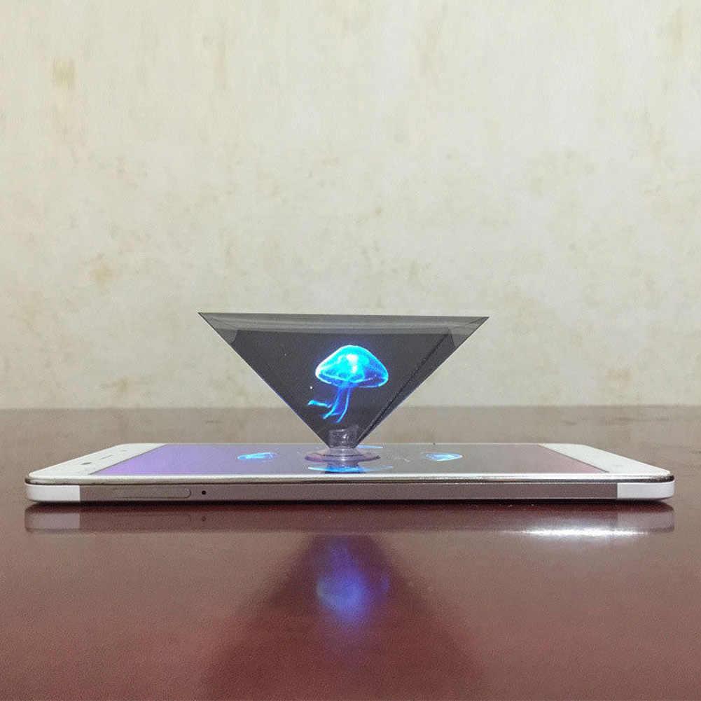 Tampilan Datar Lipat Universal Miniature Hologram 3D Proyektor Video untuk Ponsel Pintar