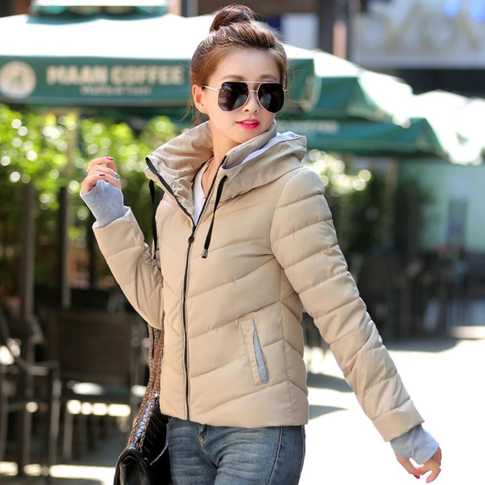 8 Renkler Moda Rahat Eldiven ile 2016 Kış Ceket Kadınlar Kapüşonlu Parka Aşağı Lady Ukrayna Ceket Manteau Femme Kore Harajuku