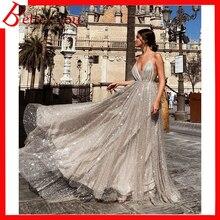 Summer dress 2019 women V-neck sling elegant sexy dress backless sequin party dress mesh lace long maxi dress недорого