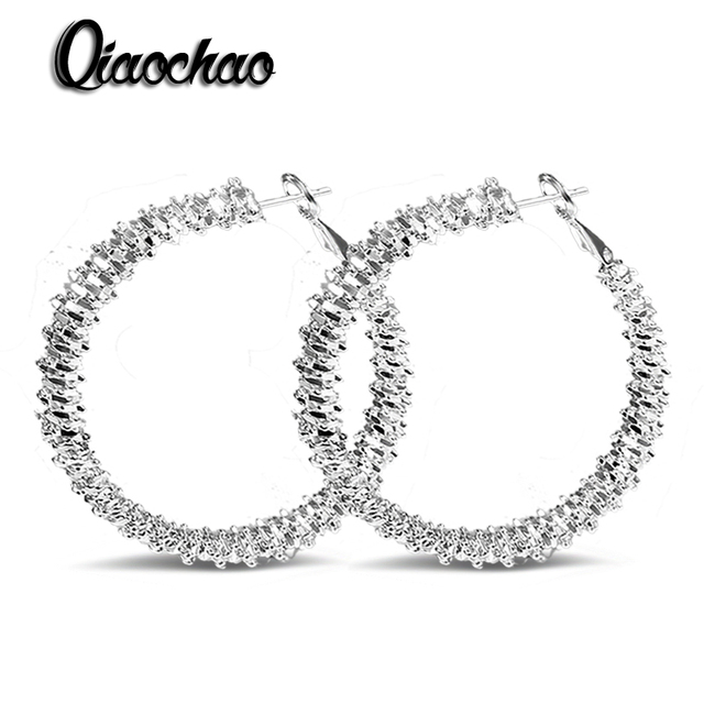 Simple Fashion Style Silver plated Twisted Rope hoop Earrings Jewellery mens 2016,Wholesale&Free shipping E283