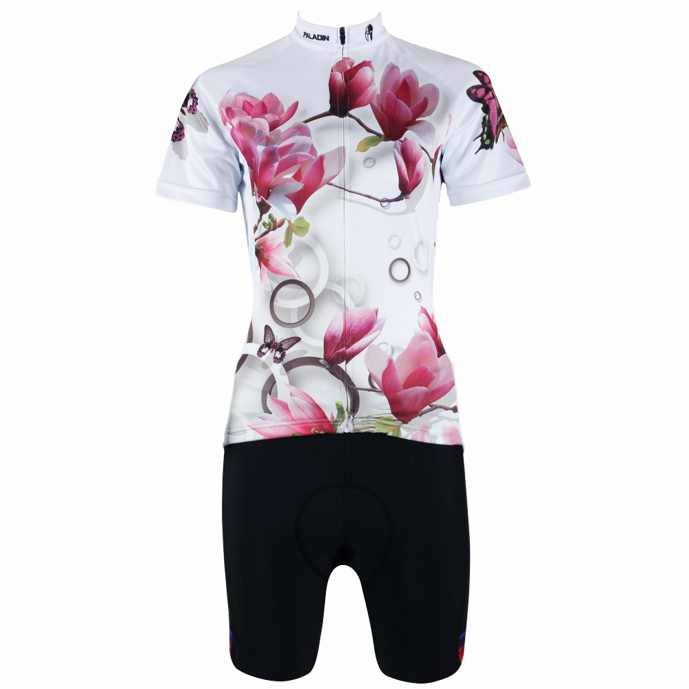 PALADIN Cycling Jersey Popular Summer Flower Style Women Cycling Clothing Mountain Bike Jerseys Short Sleeve Clothing 176 top quality hot cycling jerseys red lotus summer cycling jersey 2017s anti uv female adequate quality sleeve cycling clothin
