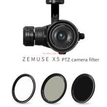 ND светло-снижение зеркало CPL поляризатор УФ фильтр защиты для DJI zenmuse zen X5/X5S/X5R PTZ