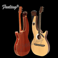 Feeling Double Neck 12+8 strings Acoustic Electric Harp Guitar with EQ