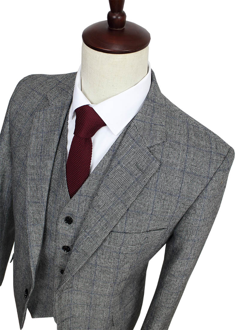 Grey suit trousers are a safe bet when looking to match a pair with your tweed jacket. No matter what colour the jacket is, grey will complement the outfit and make sure that it isn't too dark. Grey is also a good choice as it makes it a lot easier to match a pair of shoes.