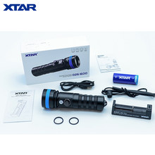 XTAR D26 Diving Flashlight CREE XHP35 HI D4 max 1600 lumen underwater 100 Meter diving torch with 5200mAh battery MC1 P charger(China)