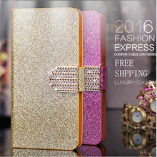 Luxury Glitter Rhinestone Phone Case For LG Optimus L9 II L9II D605 Cover Flip Wallet Leather