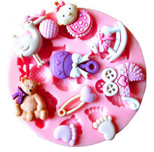 Beautiful mandarin duck cake decorating mold tools Chocolate Candy Jello 3 d Mould Cartoon Figure/cake soap