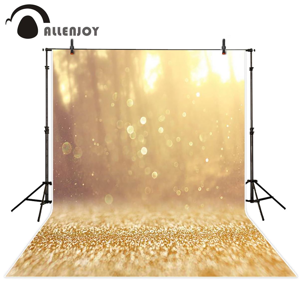 Allenjoy photographic background bokeh gold gorgeous tree backdrops photo printer vinyl cloth fabric original newborn