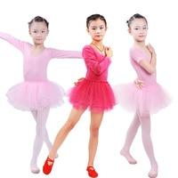 Long Sleeved Children Ballet Tutu Kids Gymnastics Leotard Girls Princess Dress