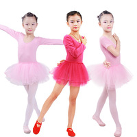 Long Sleeved Children Ballet Tutu Kids Gymnastics Leotard Girls Princess Dress